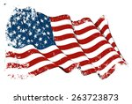 grange flag of usa | Shutterstock .eps vector #263723873