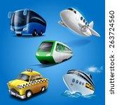 icons transport | Shutterstock .eps vector #263724560