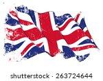 grange flag of uk   Shutterstock .eps vector #263724644