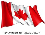 flag of canada | Shutterstock .eps vector #263724674