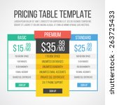 pricing table template....