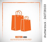 vector icon bag | Shutterstock .eps vector #263728103