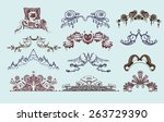 collection of random styles of... | Shutterstock .eps vector #263729390