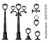 sketch of street light  vector... | Shutterstock .eps vector #263737370