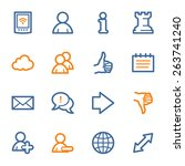 social media web icons | Shutterstock .eps vector #263741240