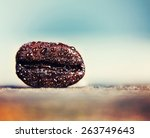 a background with a coffee bean ... | Shutterstock . vector #263749643