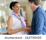 two young professionals ... | Shutterstock . vector #263750420