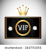 vip design over white... | Shutterstock .eps vector #263751053