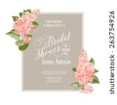 bridal shower card background... | Shutterstock .eps vector #263754926