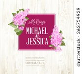 marriage card background of... | Shutterstock .eps vector #263754929