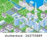 city and logistics illustration | Shutterstock .eps vector #263755889