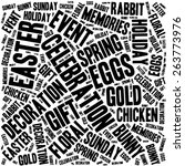 happy easter typographical... | Shutterstock .eps vector #263773976