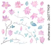 Hand Painted Floral Watercolor...