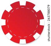 red poker chip vector isolated | Shutterstock .eps vector #263788079