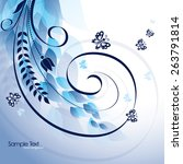 Wavy Background With Leaves An...