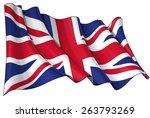 illustration of a waving uk... | Shutterstock .eps vector #263793269