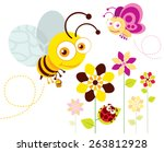 Bee  Butterfly And Ladybird...