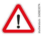 warning traffic signs | Shutterstock .eps vector #263823374