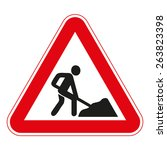 warning traffic signs | Shutterstock .eps vector #263823398