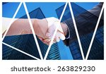 close up of a handshake against ... | Shutterstock . vector #263829230