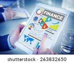 finance bar graph chart... | Shutterstock . vector #263832650