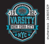 athletic sport nyc typography ...   Shutterstock .eps vector #263835329