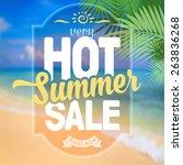 advertisement about the summer... | Shutterstock .eps vector #263836268