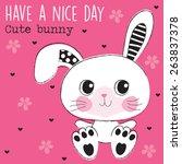 cute bunny vector illustration | Shutterstock .eps vector #263837378