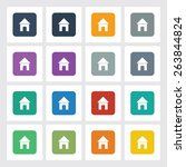 very useful flat icon of home...