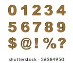 set of gold numbers and symbols ... | Shutterstock . vector #26384950