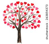 Tree With Lovely Hearts....
