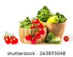 bunch of vegetables in the... | Shutterstock . vector #263855048
