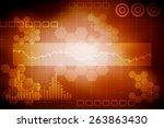 digital abstrct business... | Shutterstock . vector #263863430