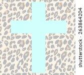 seamless leopard pattern.... | Shutterstock .eps vector #263864204