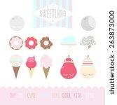 set of cute elements | Shutterstock . vector #263873000
