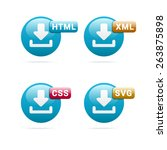 web file format icons | Shutterstock .eps vector #263875898