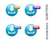 file format icons | Shutterstock .eps vector #263875934