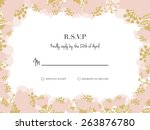 rsvp card. to use for your... | Shutterstock .eps vector #263876780