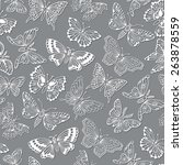 seamless pattern with... | Shutterstock .eps vector #263878559
