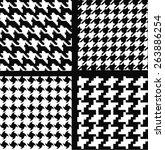 geometric monochrome pattern | Shutterstock .eps vector #263886254