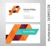 modern letter p business card... | Shutterstock .eps vector #263892128