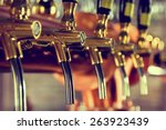 Stock photo beer tap 263923439
