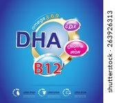 kids vitamin and omega 3 vector   Shutterstock .eps vector #263926313