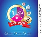 kids vitamin and omega 3 vector | Shutterstock .eps vector #263926328