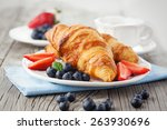 delicious breakfast with fresh... | Shutterstock . vector #263930696
