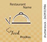 restaurant menu card design.   Shutterstock .eps vector #263931986