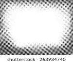 grunge halftone dots vector... | Shutterstock .eps vector #263934740