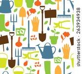 background with garden design... | Shutterstock .eps vector #263934938