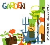 Background With Garden Design...
