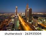 Dubai Night Skyline. Dubai...